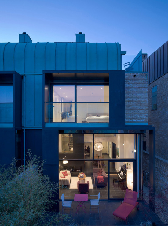 Alison Brooks Architects _ Cambridge _ Accordia _ Sky Villas _ Photo Back Night 6