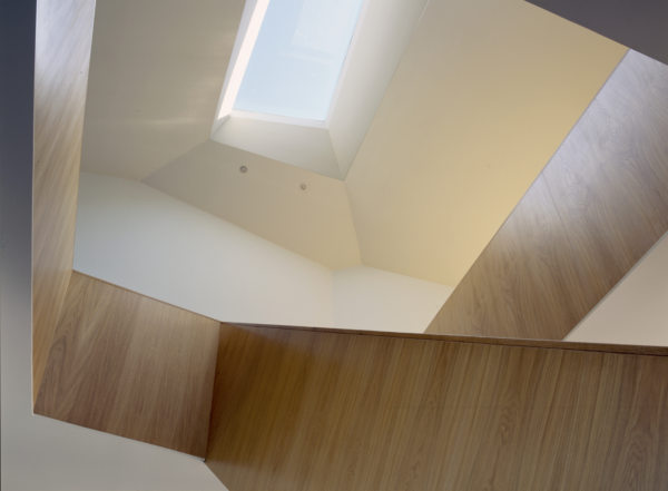 Alison Brooks Architects _ Salt House _ Essex _ Photo Interior Upwards Lightwell Stair
