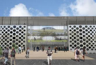 Alison Brooks Architects _ University of Northampton _ Northampton _ CGI Entrance