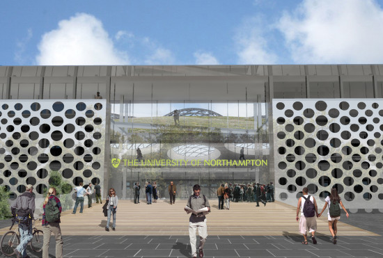 Alison Brooks Architects _ University of Northampton _ Northampton _ CGI Entrance
