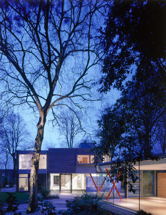 Alison Brooks Architects _ VXO House _ Garden Night View