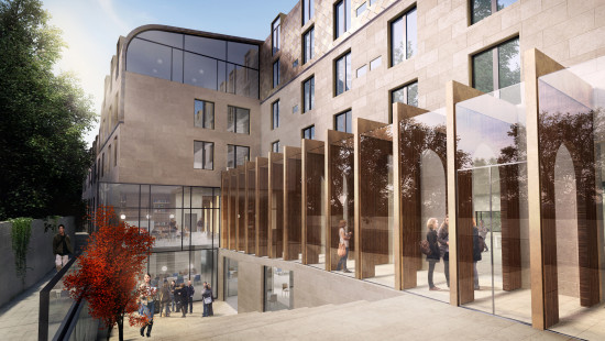 Alison Brooks Architects _ Exeter College Oxford University _ Rendering South Quad
