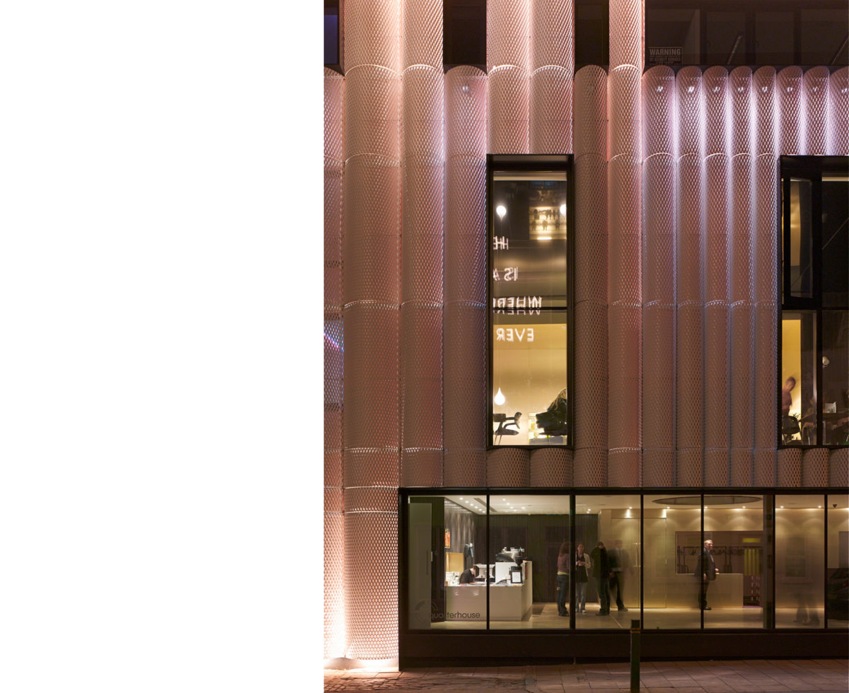 Alison Brooks Architects _ Quarterhouse Performing Arts & Business Centre _ Folkestone _ Photo Facade Night Frontal