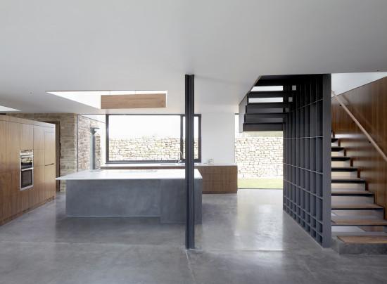 Alison Brooks Architects _ Windward House _ Photo Kitchen Stair 2