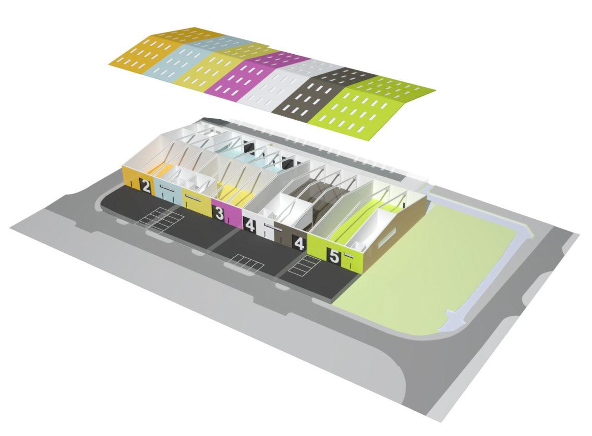 Alison Brooks Architects _ Rainham _ Wildspace Warehouse _ Axo