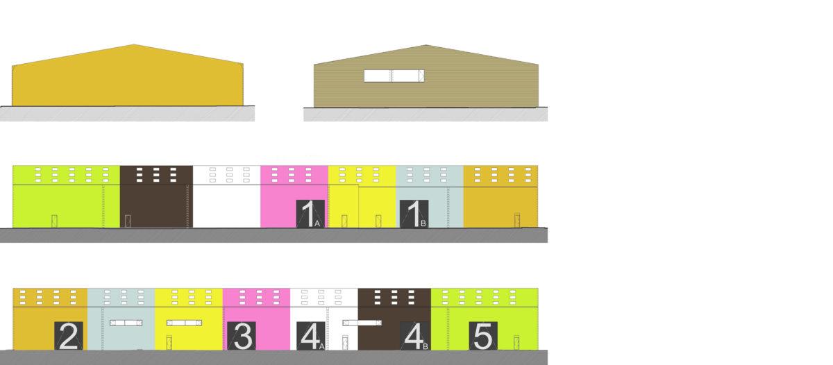 Alison Brooks Architects _ Rainham _ Wildspace Warehouse _ Elevations 2