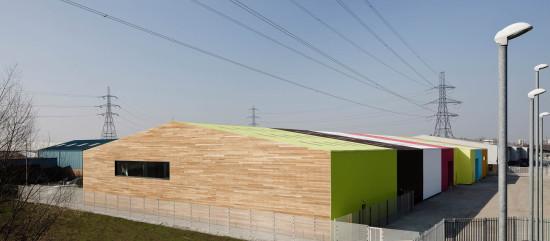 Alison Brooks Architects _ Rainham _ Wildspace Warehouse _ View From Side