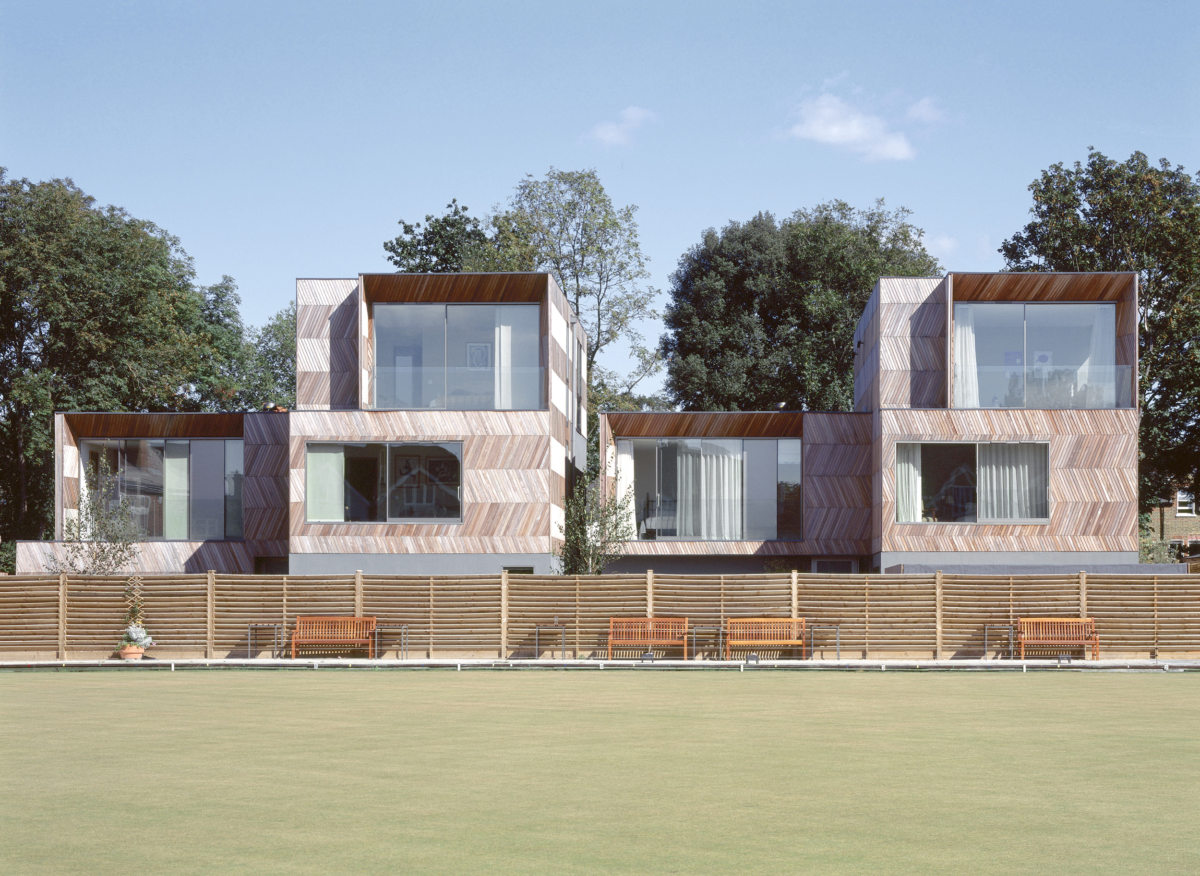 Alison Brooks Architects _ Herringbone Houses _ Photo Exterior Front Bowling Green 2