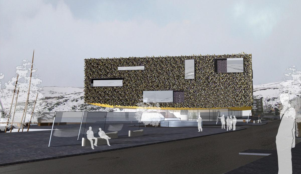 Alison Brooks Architects _ Artic Culture Centre _ Hammerfest _ CGI Street