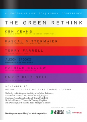 AJ Footprint Live - The Green Rethink - Alison Brooks Architects