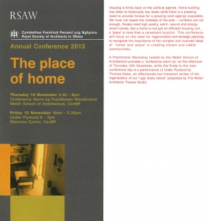 Alison Brooks Architects - Michael Woodford - RSAW Annual Conference 2013 - The Place of Home copy