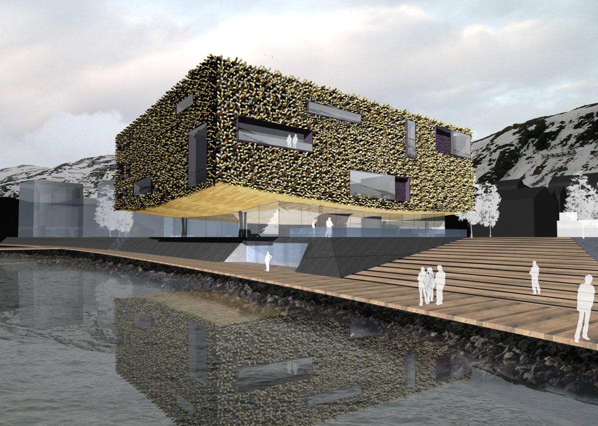 Alison Brooks Architects _ Artic Culture Centre _ Hammerfest _ CGI Exterior 1