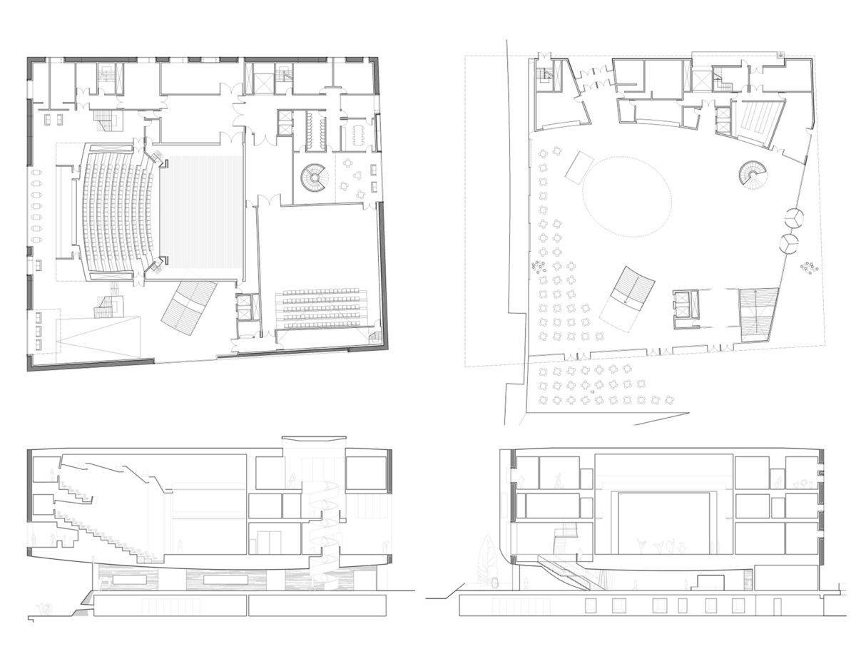 Alison Brooks Architects _ Artic Culture Centre _ Hammerfest _ Plans _ Sections 1