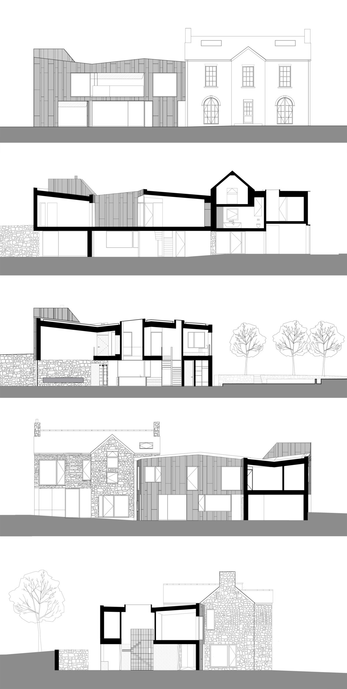 Alison Brooks Architects _ Windward House _ Sections 1