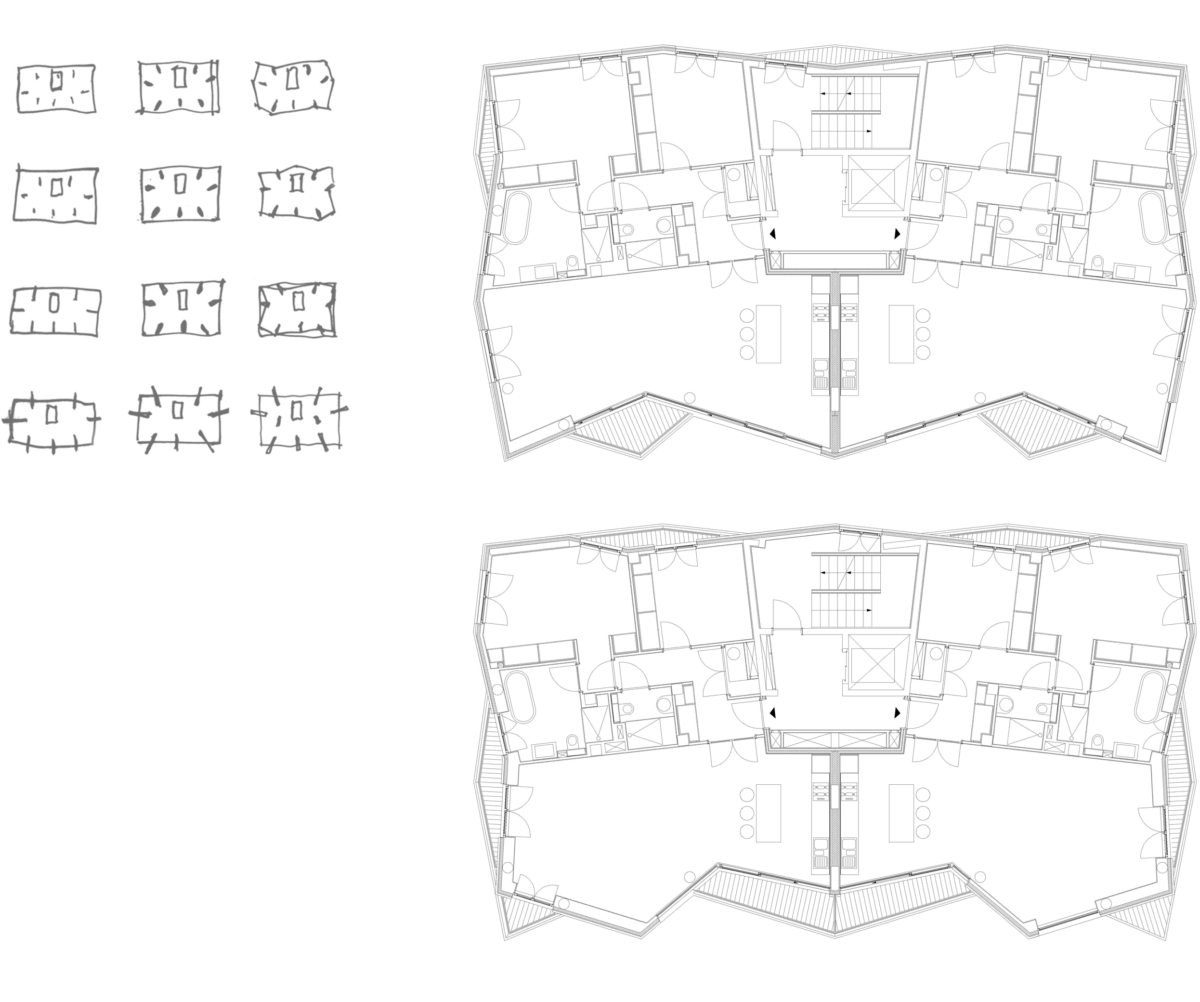 Alison Brooks Architects _ Accordia _ Brass Building _ Plans _ Diagrams 1