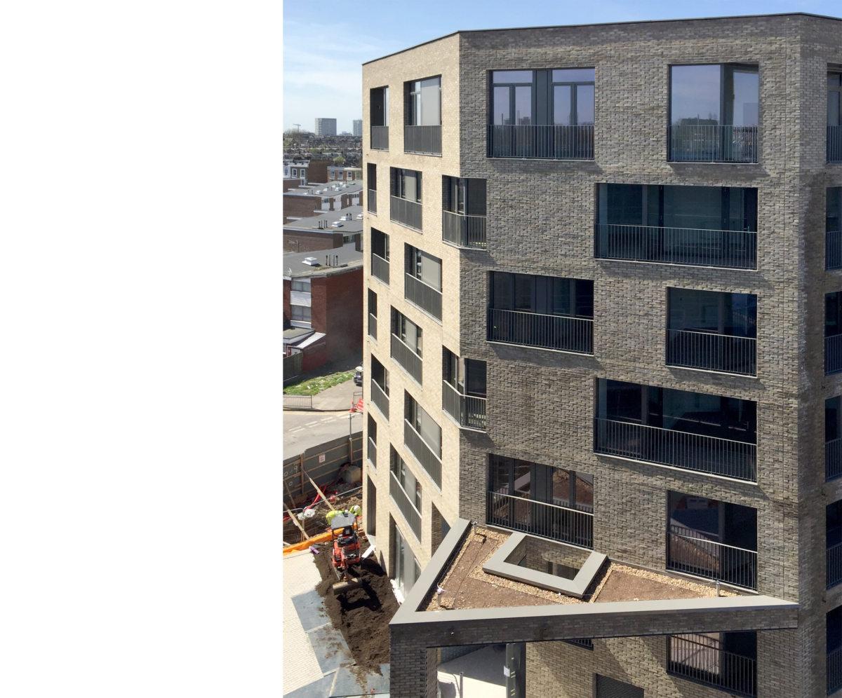 Alison Brooks Architects _ South Kilburn Estate Regeneration _ Bronte and Fielding _ Construction Photo 4