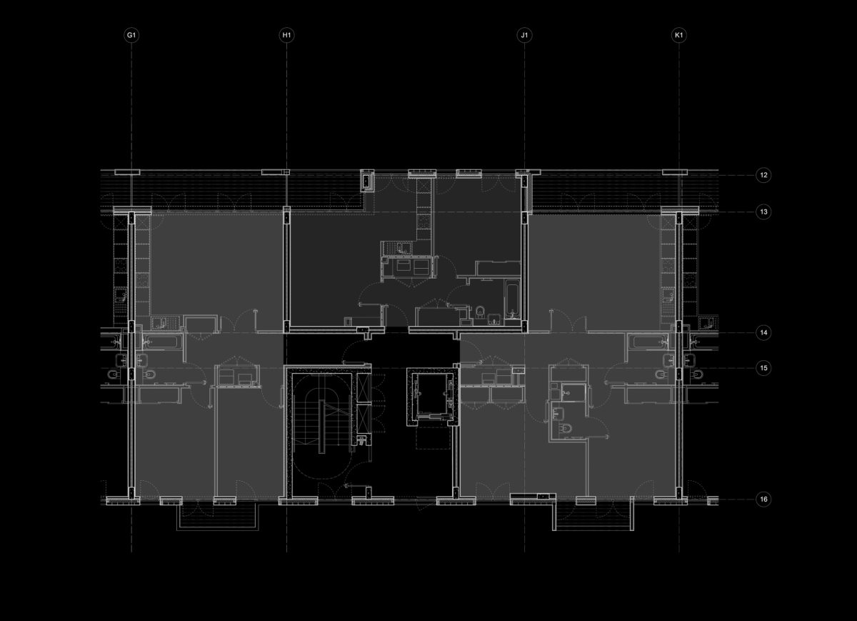 Alison Brooks Architects - Bronte and Fielding House - East Block Plan