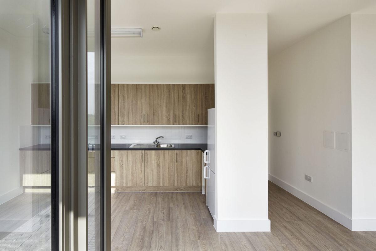 Alison Brooks Architects _ South Kilburn Estate Regeneration _ Bronte and Fielding _ Photo Interior Kitchen