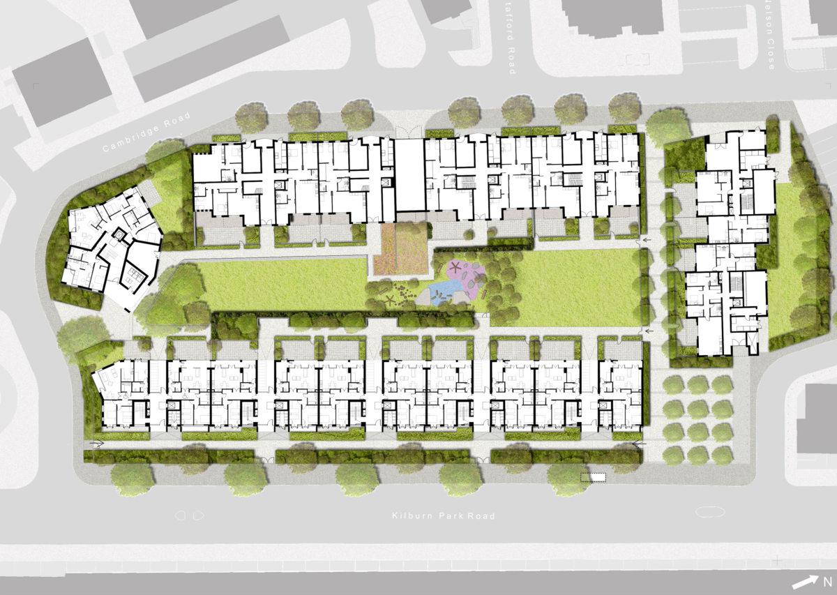 Alison Brooks Architects _ South Kilburn Estate Regeneration _ Bronte and Fielding _ Site Plan