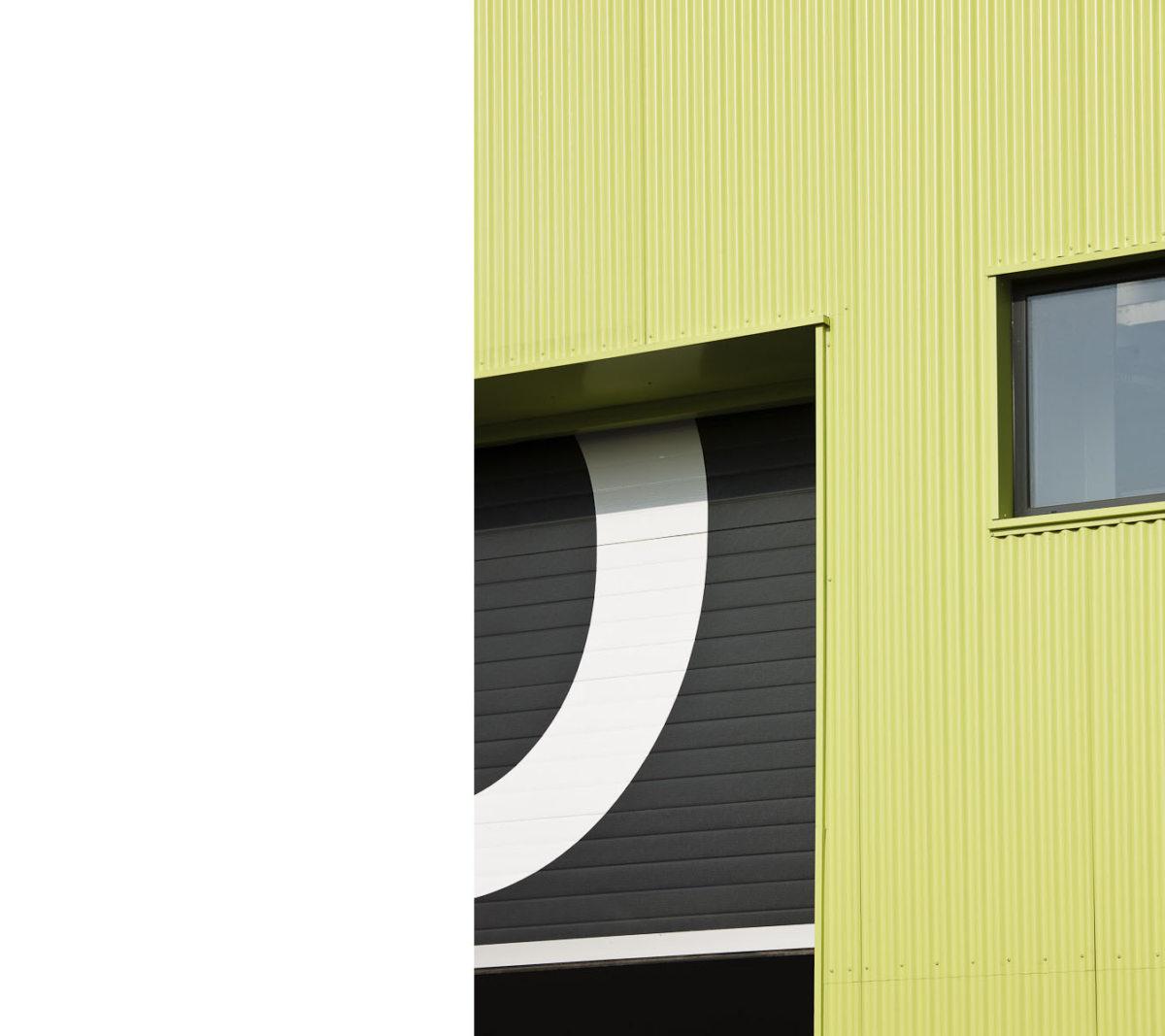 Alison Brooks Architects _ Rainham _ Wildspace Warehouse _ Photo Opening Door 1