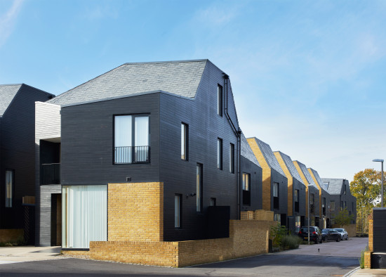 Alison Brooks Architects _ Newhall Be _ Harlow Essex _ Photo Exterior Street Corner