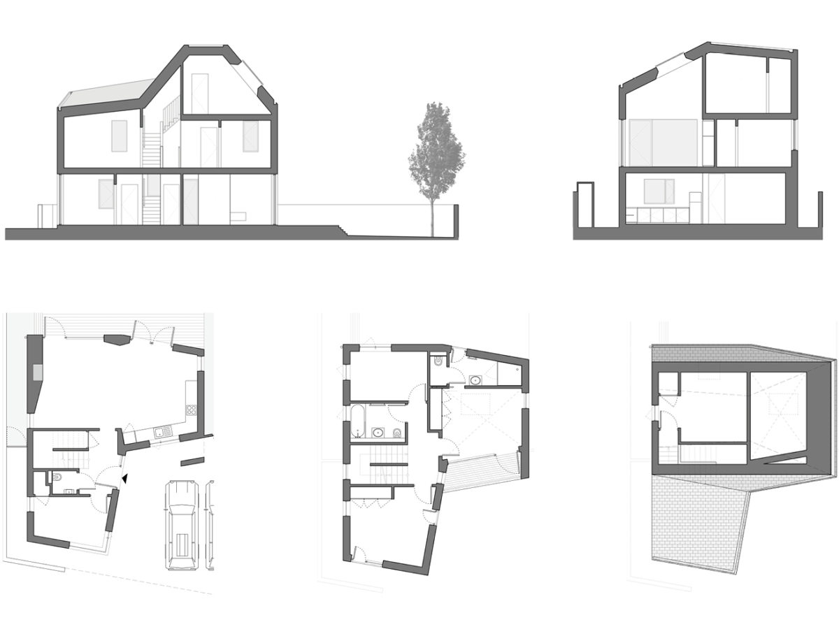 Alison Brooks Architects _ Newhall Be _ Harlow Essex _ Plans Sections _ Villa 2