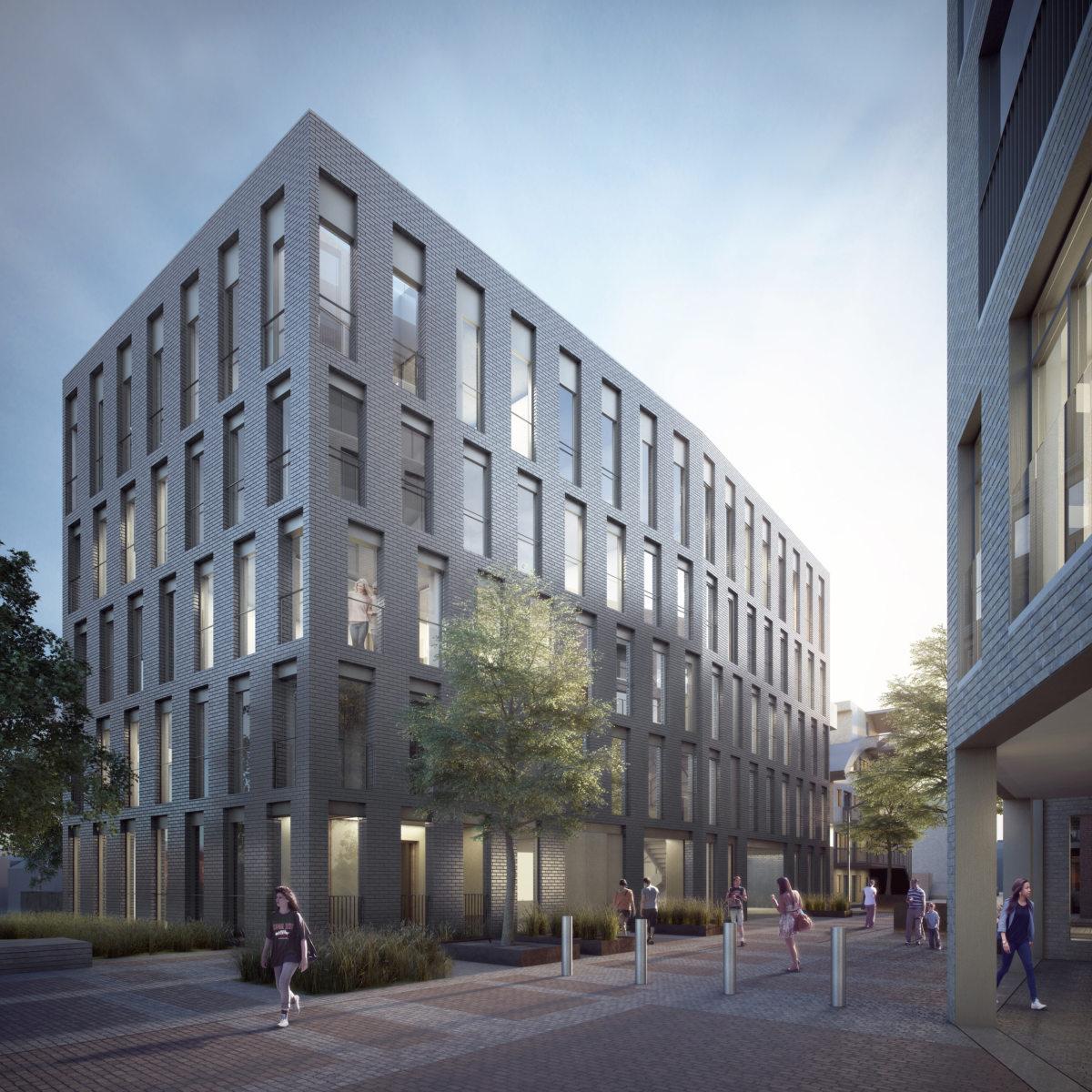 Alison Brooks Architects _ Severn Place _ Cambridge _ Entrance View 1