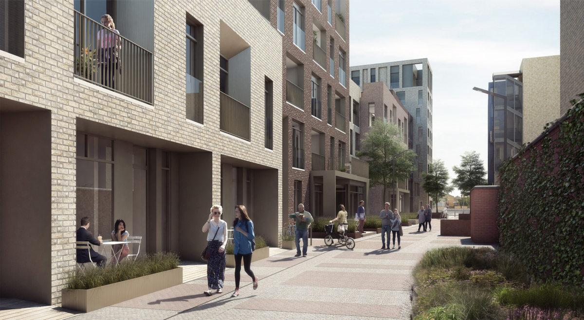 Alison Brooks Architects _ Severn Place _ Cambridge _ Pedestrian Area View