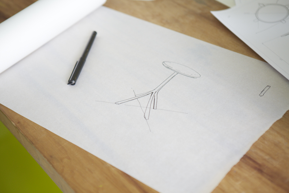Alison Brooks Architects _ Wish List Stool _ Sketch