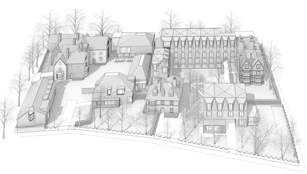 Alison Brooks Architects _ New College _ Oxford _ Rendering Aerial