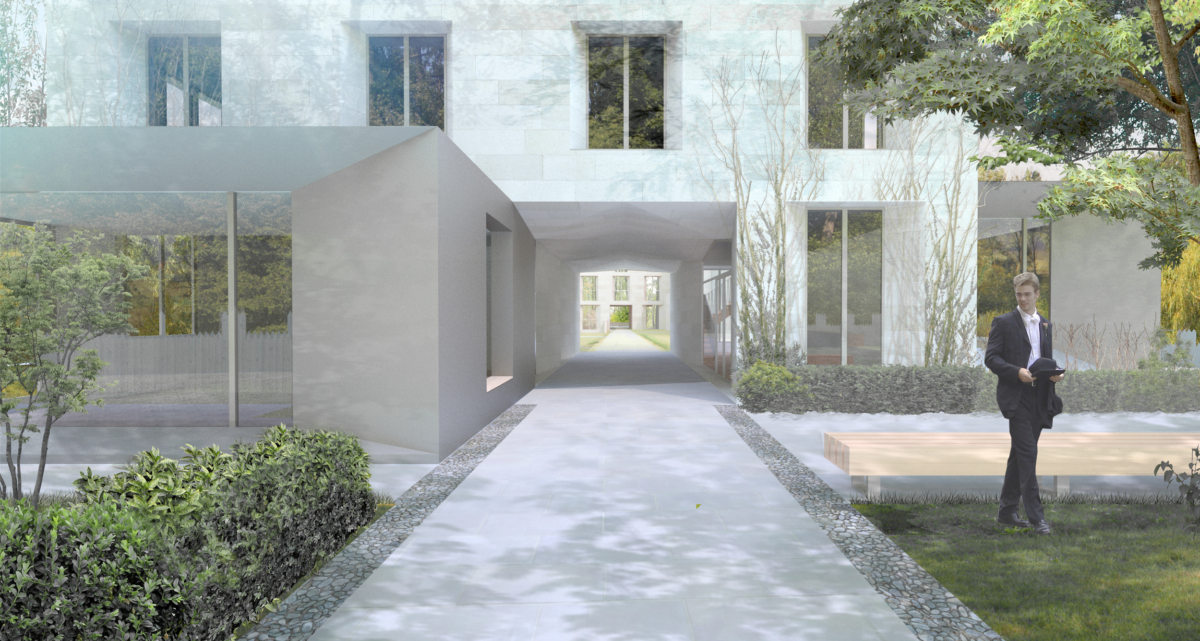 Alison Brooks Architects _ New College _ Oxford _ Rendering Porters Lodge