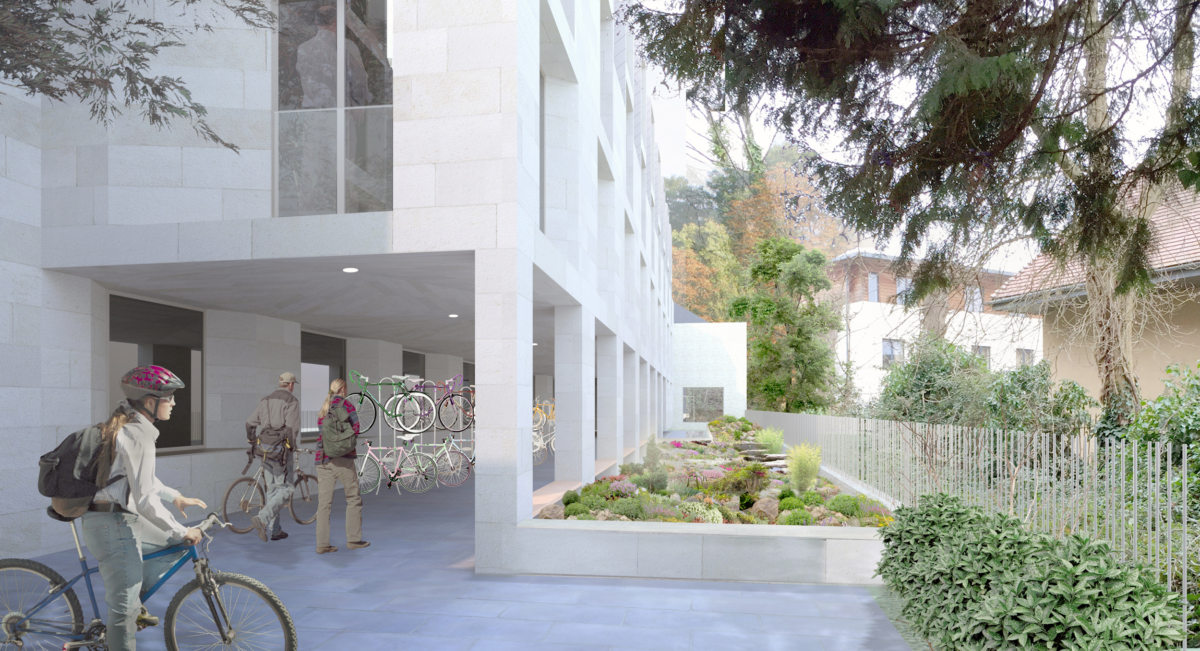 Alison Brooks Architects _ New College _ Oxford _ Rendering Rockery