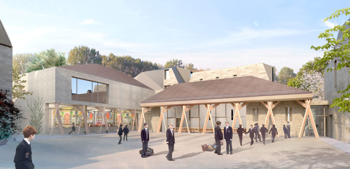 Alison Brooks Architects _ New College _ Oxford _ Rendering School Quad