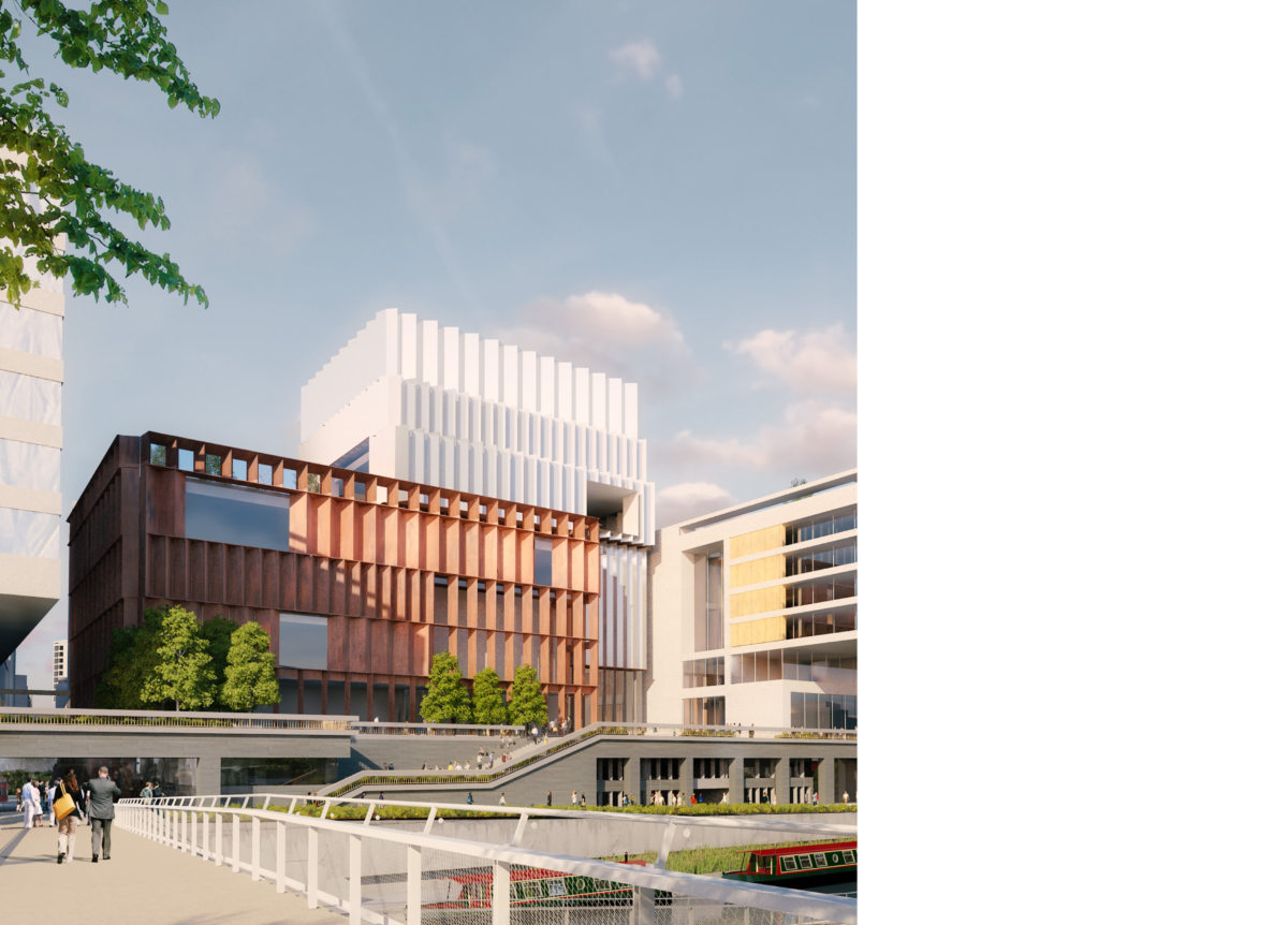 Alison Brooks Architects _ Olympicopolis _ Stratford _ Rendering Exterior Day