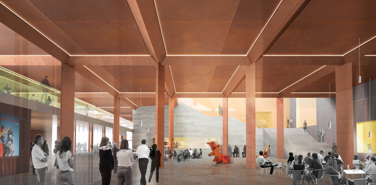 Alison Brooks Architects _ Olympicopolis _ Stratford _ Rendering Foyer Sadlers Wells