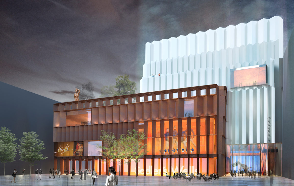 Alison Brooks Architects _ Olympicopolis _ Stratford _ Rendering Night Outside