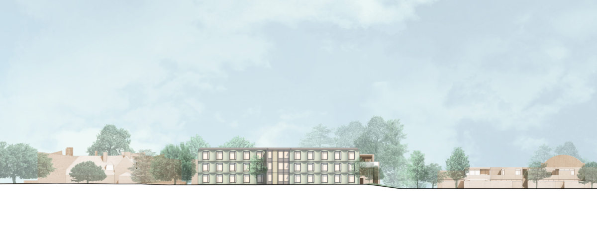 Alison Brooks Architects _ Churchill College Graduate Residences _ Cambridge _ Elevation North