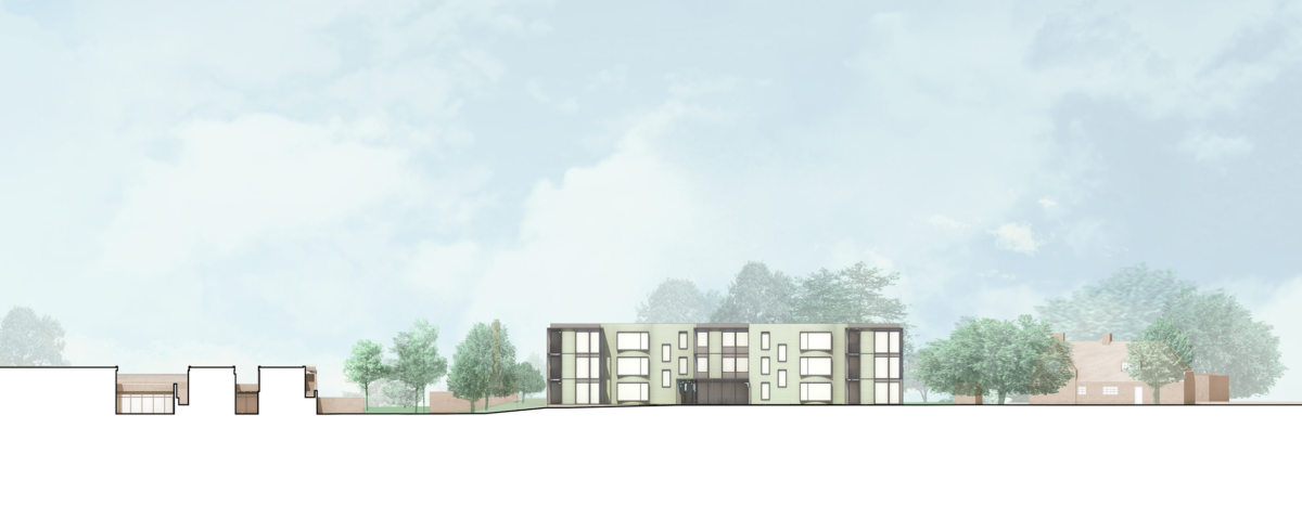Alison Brooks Architects _ Churchill College Graduate Residences _ Cambridge _ Elevation South