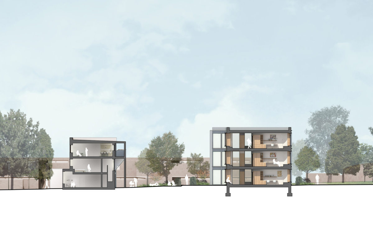 Alison Brooks Architects _ Churchill College Graduate Residences _ Cambridge _ Building Section 1