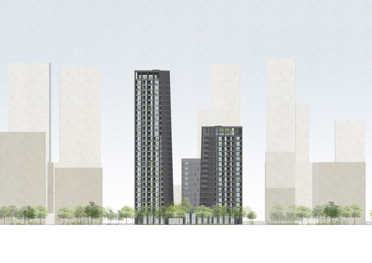 Alison Brooks Architects_Greenwich Peninsula_front elevation