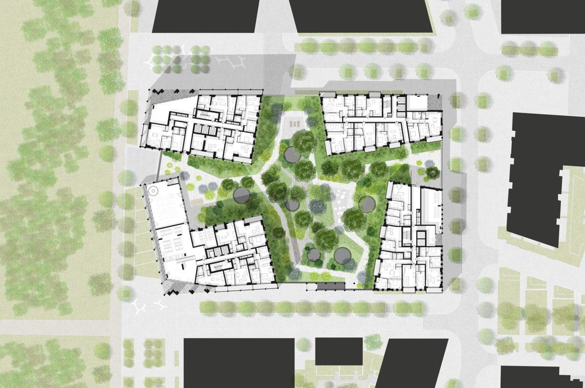 Alison Brooks Architects_Greenwich Peninsula_podium plan