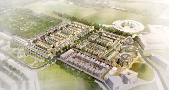 Alison Brooks Architects _ North West Cambridge Development _ Aerial View 1