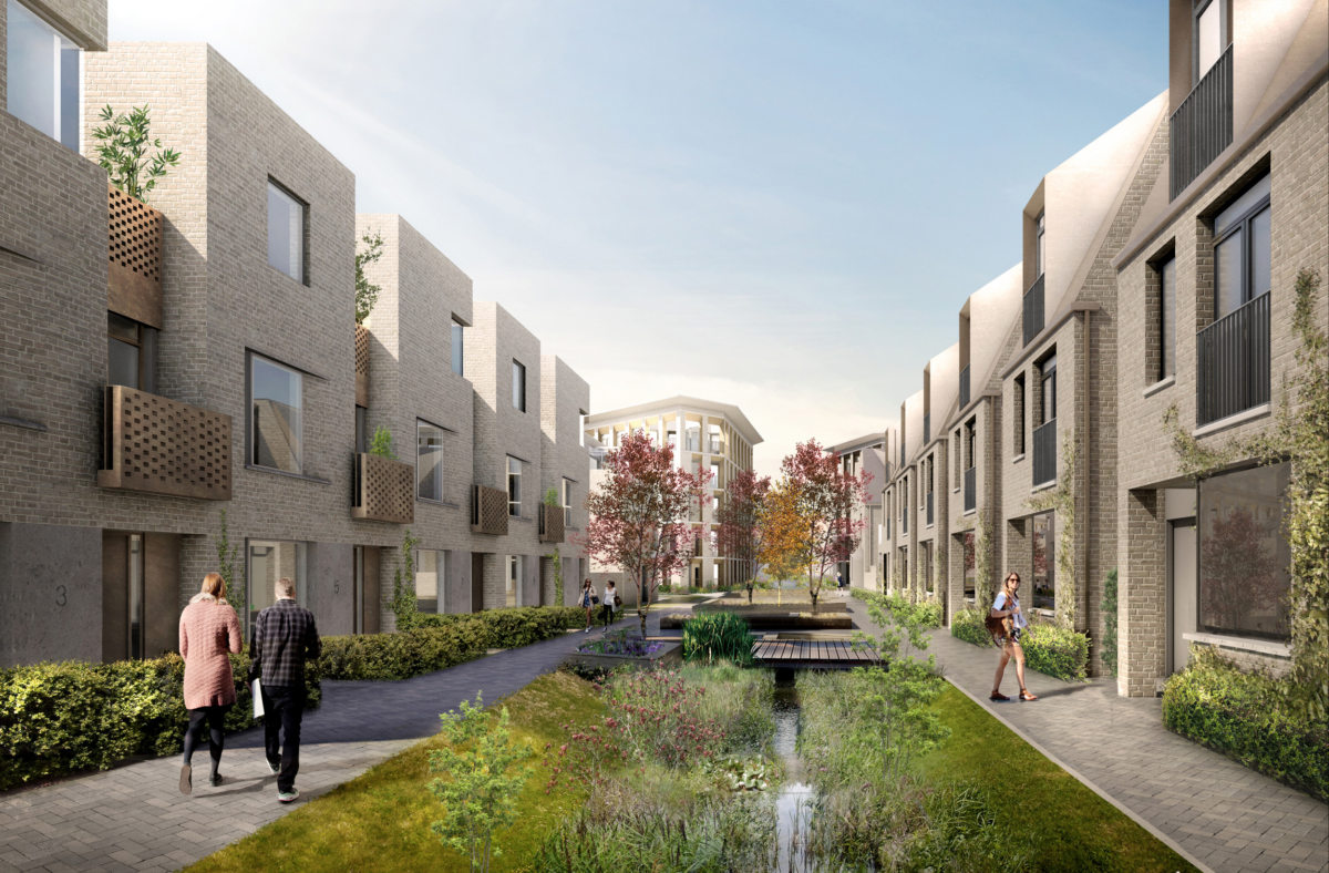 Alison Brooks Architects _ North West Cambridge Development _ Rendering Green Street